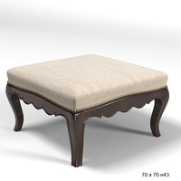 Pierre Collection classic pouf ottoman  MOUSTACHE BOUT BERGERE bench